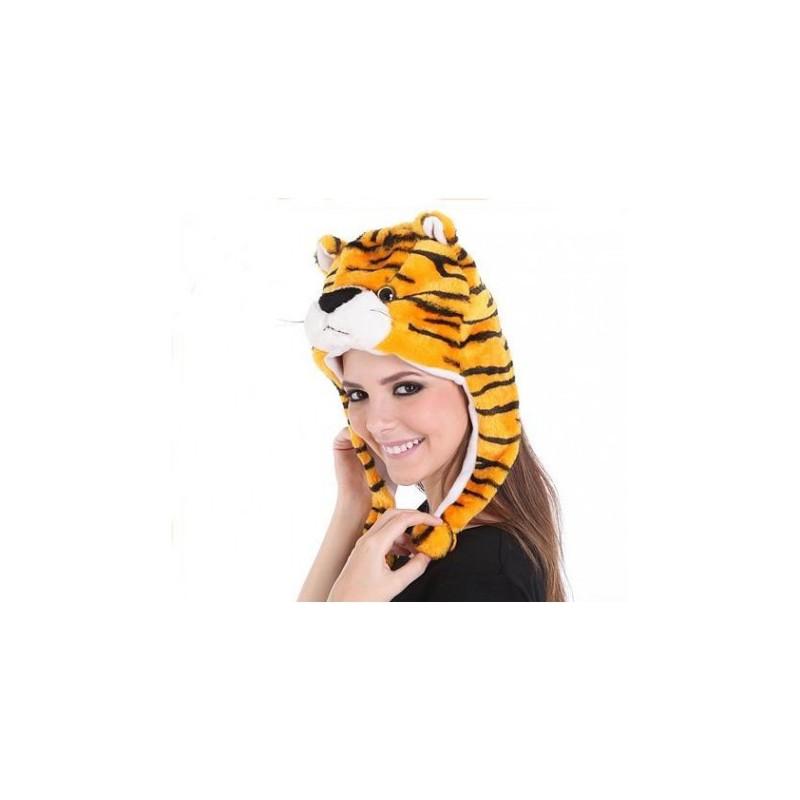 e867069a37e5 Bonnets Animaux Rigolos et Fantaisie - Bonnets en Peluche - (Adulte ...