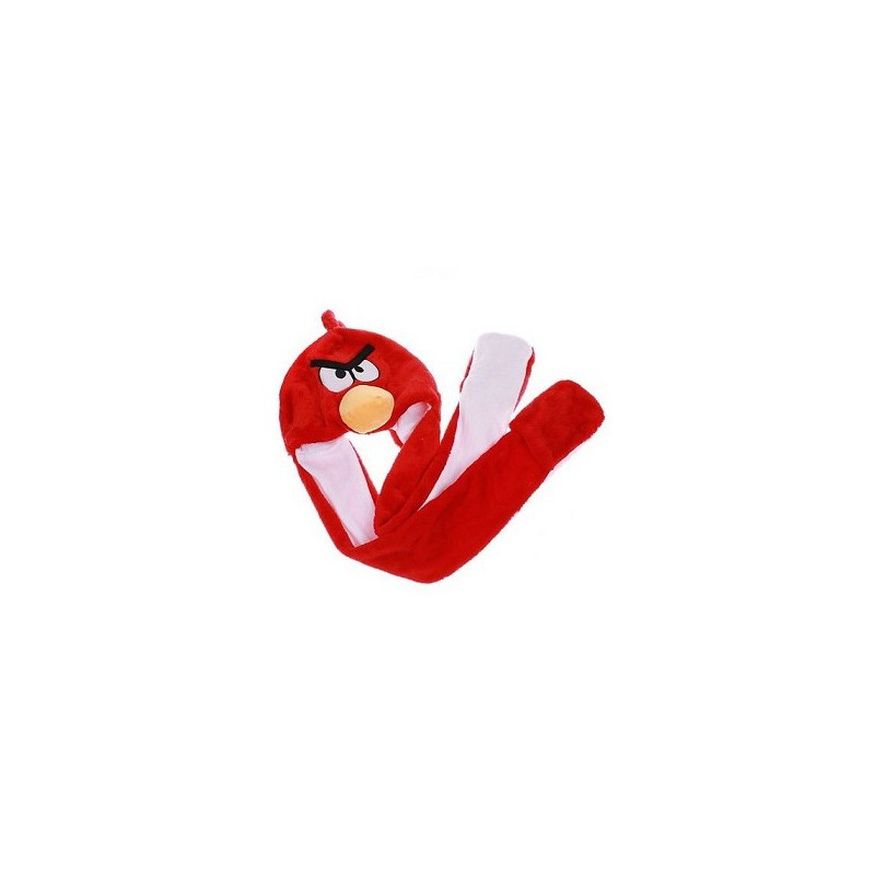 Bonnet peluche angry bird rouge taille unique homme femme enfant adulte - Angry birds rouge ...