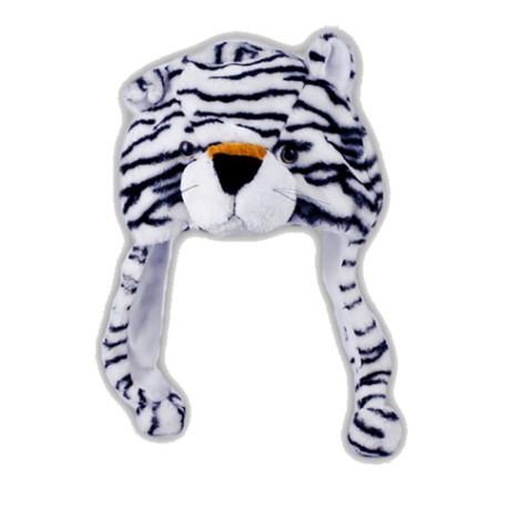 Bonnet peluche tigre blanc polaire taille unique - Tigre polaire ...