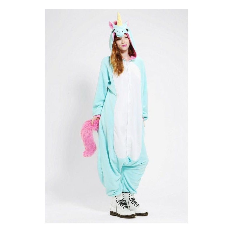 grenouill re licorne bleu pyjama natoo licorne pas cher pour adulte homme femme. Black Bedroom Furniture Sets. Home Design Ideas