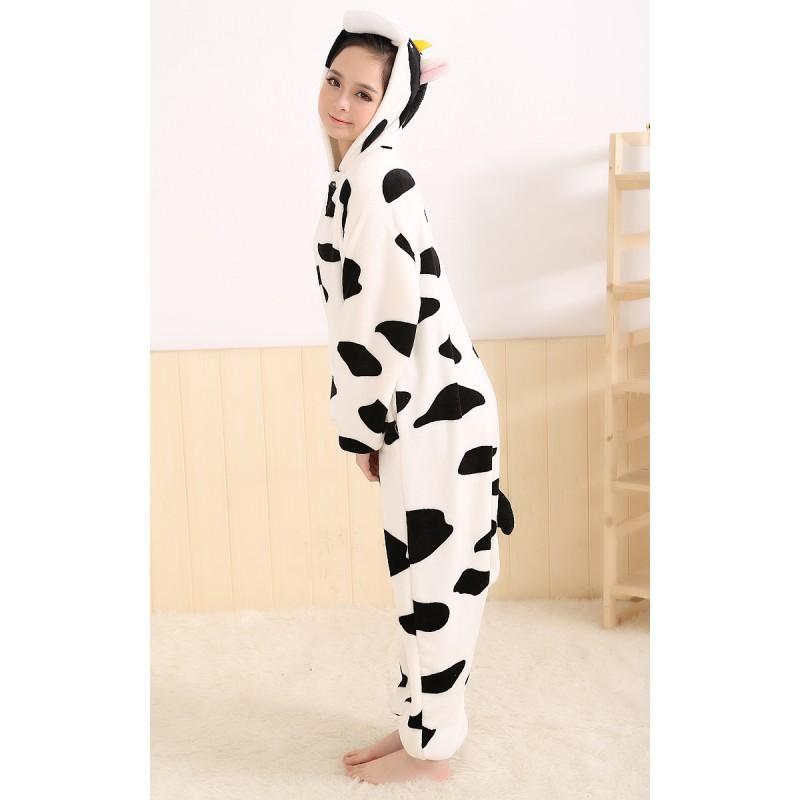 Grenouillere Vache Pour Adulte Homme Femme Pyjamas Animaux