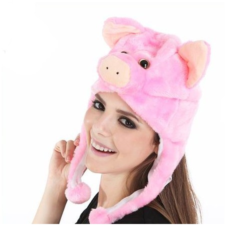 Bonnet cochon rose