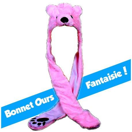 Bonnet Ours Rose