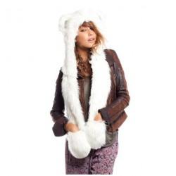 Bonnet Fourrure Ours polaire