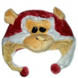 Bonnet Singe Rouge de Noel